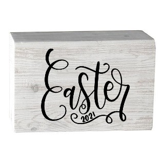 Easter 2021 Barn House Wooden Block buy at Florist
