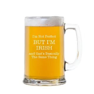 I'm not Perfect Engraved Handled Beer Mug Stein 15oz buy at Florist