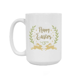 Happy Easter Bunnies Ceramic Mug 15oz buy at Florist