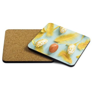 Easter Photo Coaster - Yellow buy at Florist