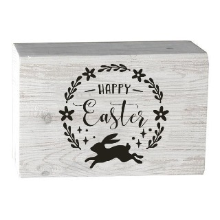 Happy Easter Spring Decor Wooden Block buy at Florist