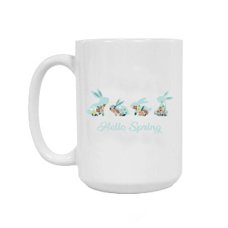 Hello Spring Ceramic Mug 15oz buy at Florist